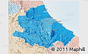 Political Shades 3D Map of Abruzzo, lighten