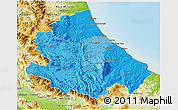 Political Shades 3D Map of Abruzzo, physical outside
