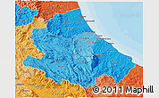 Political Shades 3D Map of Abruzzo