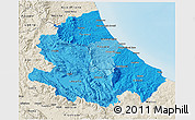 Political Shades 3D Map of Abruzzo, shaded relief outside