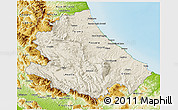 Shaded Relief 3D Map of Abruzzo, physical outside