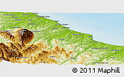 Physical Panoramic Map of Chieti