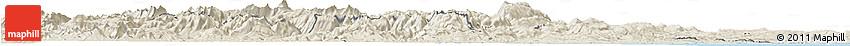 Shaded Relief Horizon Map of Abruzzo