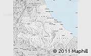 Silver Style Map of Abruzzo