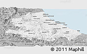 Gray Panoramic Map of Abruzzo