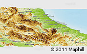 Physical Panoramic Map of Abruzzo