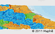 Political Panoramic Map of Abruzzo