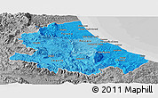 Political Shades Panoramic Map of Abruzzo, desaturated