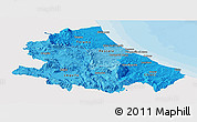 Political Shades Panoramic Map of Abruzzo, single color outside
