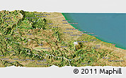 Satellite Panoramic Map of Abruzzo