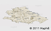 Shaded Relief Panoramic Map of Abruzzo, cropped outside