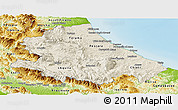 Shaded Relief Panoramic Map of Abruzzo, physical outside