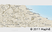 Shaded Relief Panoramic Map of Abruzzo