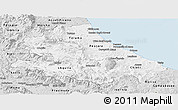 Silver Style Panoramic Map of Abruzzo