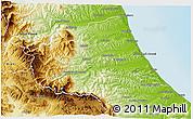 Physical 3D Map of Teramo