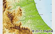 Physical Map of Teramo