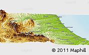 Physical Panoramic Map of Teramo