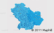 Political Shades 3D Map of Basilicata, cropped outside