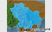 Political Shades 3D Map of Basilicata, darken