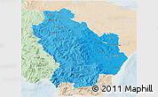 Political Shades 3D Map of Basilicata, lighten
