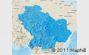 Political Shades 3D Map of Basilicata, shaded relief outside