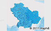 Political Shades 3D Map of Basilicata, single color outside