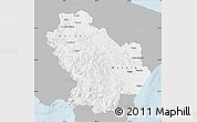 Gray Map of Basilicata, single color outside