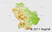 Physical Map of Basilicata, cropped outside
