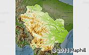 Physical Map of Basilicata, darken