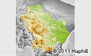 Physical Map of Basilicata, desaturated