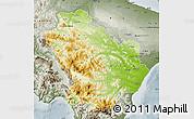 Physical Map of Basilicata, semi-desaturated