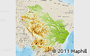 Physical Map of Basilicata, shaded relief outside
