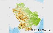 Physical Map of Basilicata, single color outside