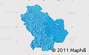 Political Shades Map of Basilicata, cropped outside