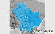 Political Shades Map of Basilicata, desaturated