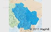 Political Shades Map of Basilicata, lighten