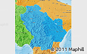Political Shades Map of Basilicata
