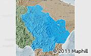 Political Shades Map of Basilicata, semi-desaturated