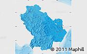 Political Shades Map of Basilicata, single color outside