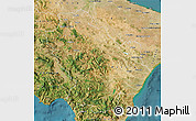Satellite Map of Basilicata