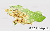 Physical Panoramic Map of Basilicata, cropped outside
