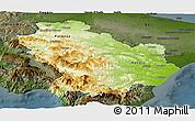 Physical Panoramic Map of Basilicata, darken