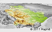 Physical Panoramic Map of Basilicata, desaturated