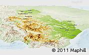 Physical Panoramic Map of Basilicata, lighten