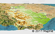 Physical Panoramic Map of Basilicata, satellite outside