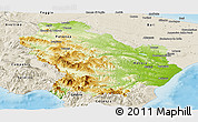 Physical Panoramic Map of Basilicata, shaded relief outside