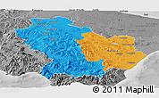 Political Panoramic Map of Basilicata, desaturated
