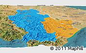 Political Panoramic Map of Basilicata, satellite outside