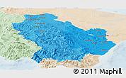 Political Shades Panoramic Map of Basilicata, lighten