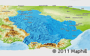 Political Shades Panoramic Map of Basilicata, physical outside